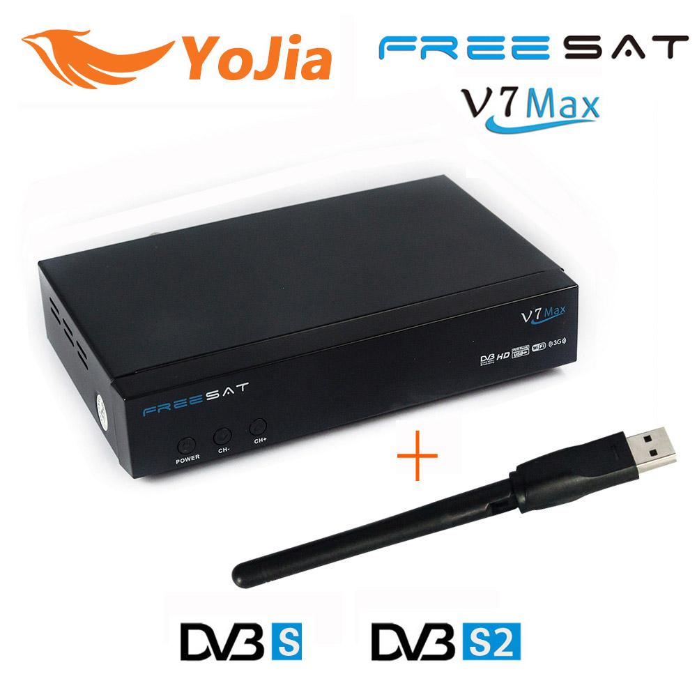 [Genuine] Freesat V7 Max with USB Wifi 1080p Full HD DVB-S2 Satellite TV Receiver Support  Cccamd PowerVu Biss Key Set Top Box