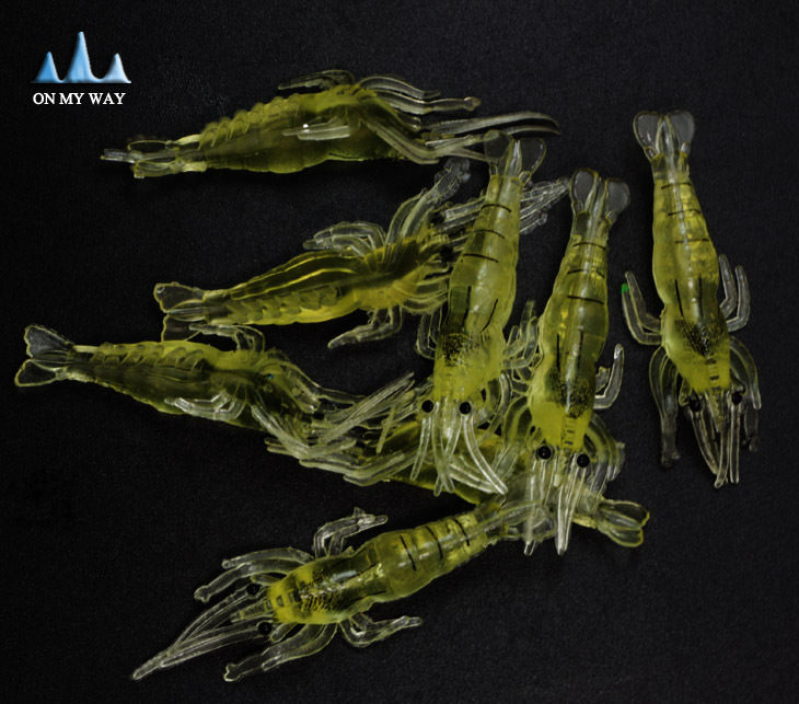 soft artificial shrimp baits 50pcs soft shrimp lure 4CM shrimp soft baits fish fishing lure japan prawn salmon lures 77#(China (Mainland))