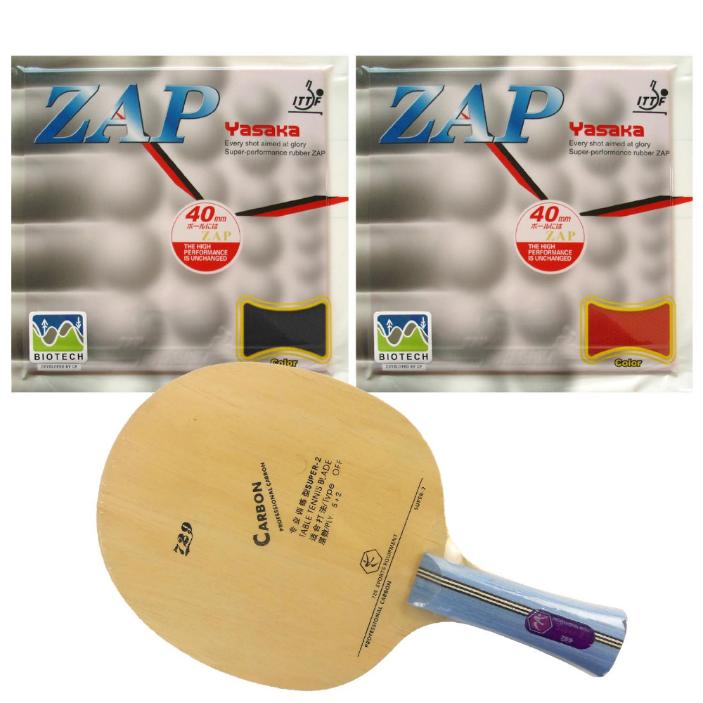 Pro Table Tennis (Ping Pong) Combo Racket: 729 Super-2 + 2Pcs Yasaka ZAP 40mm (BIOTECH)<br><br>Aliexpress