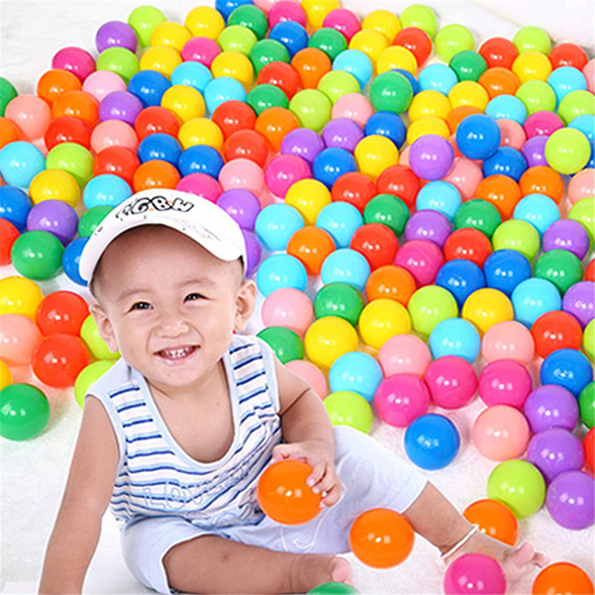 200pcs 40mm Secure Colorful Ball Soft Plastic Ocean Ball Funny Baby Kid Swim Pit Toy Water Pool Ocean Wave Ball(China (Mainland))