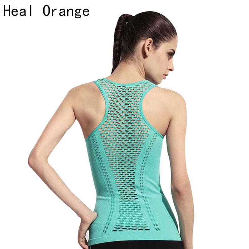 HEAL ORANGE Women Yoga Shirts Tops Women Fitness Sports Woman Gym Clothes Sport Shirt For Gym Running Mujer Running Shirt Female(China (Mainland))