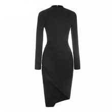 Women dress 2015 autumn winter dresses plus size women clothing chic long sleeve warm sweater dresses vestidos(China (Mainland))