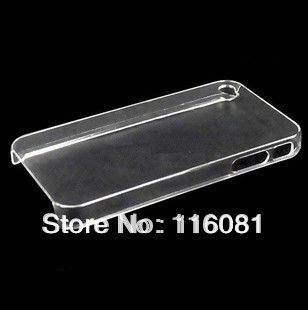 Wholesales Hard Plastic clear crystal transparent back cover cases for iphone 4G 4S Free Shipping 10pcs/lot