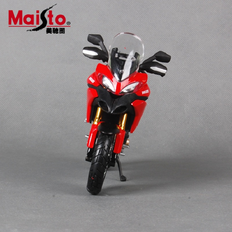 Maisto 1:12 motorcycle models for Ducati Multistrada1200S race car Diecast motorbike metal models kids toys for boys