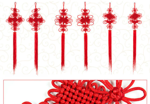 The pure handicrafts Chinese knot Zhen Wang Spring Festival pendant ornaments Chinese New Year wedding stage props wind