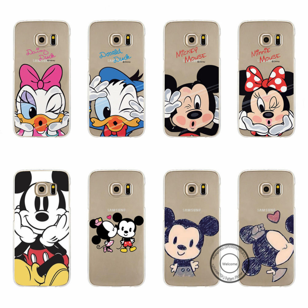 Mickey Minnie Donald Daisy Duck Pooh TPU Silicone Cases Samsung Galaxy ...