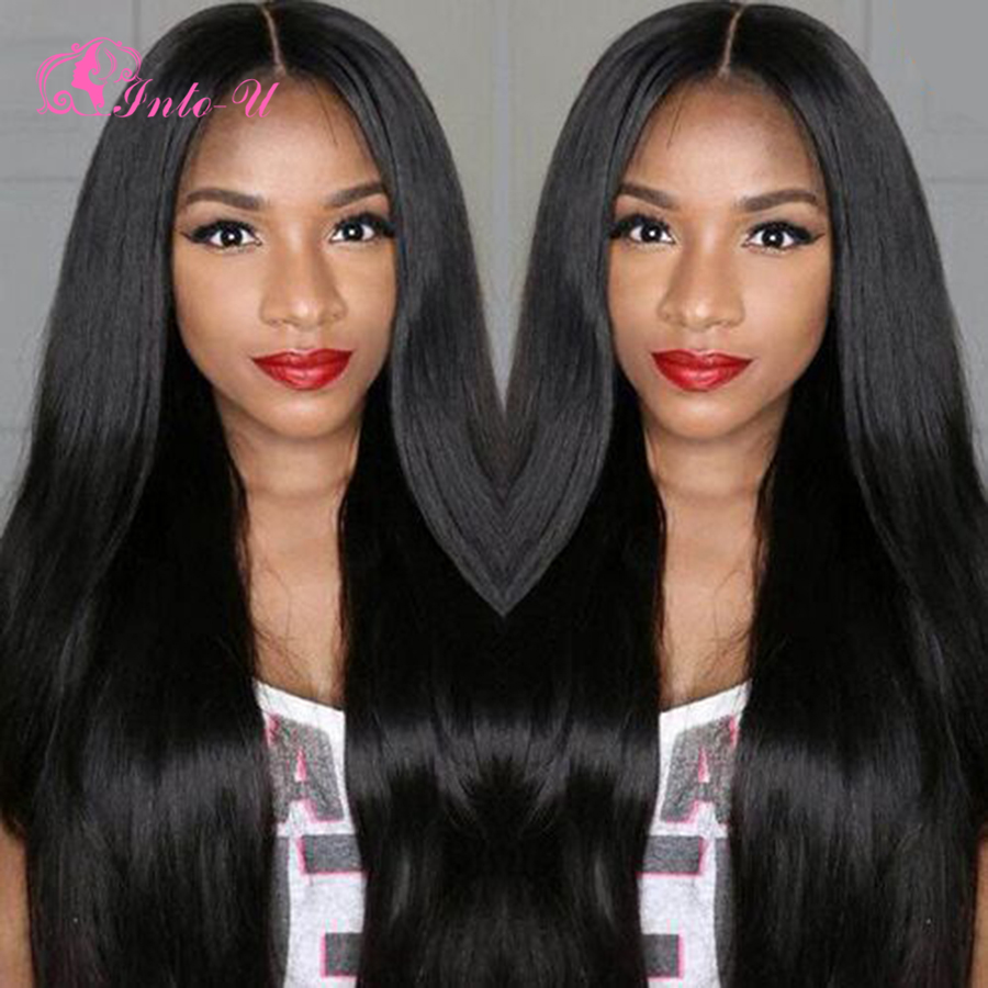 Brazilian Full Lace Wig With Baby Hair Brazilian Virgin Hair Straight Human Hair Lace Front Wig For Black Women Brazilian Wigs<br><br>Aliexpress