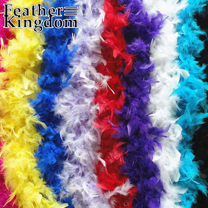 "2meter/lot 200cm(79"")/pcs Turkey Feathers Strip Wedding Marabou Feather Boa 10 Color Selected(China (Mainland))"