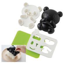 4Pcs/Set Panda Rice Ball Die Mould Bento Accessories Nori Seaweed Onigiri Kitchen Tools # 30061