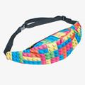 Geometric 3D Printing running belt leg bag fanny pack for women pochete waist bags Zohra 2016