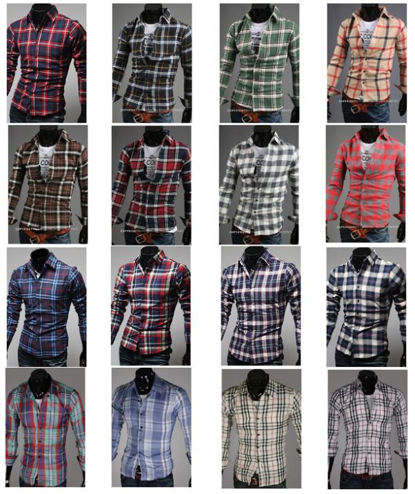 mens fashion clothing cotton designer cross line slim fit