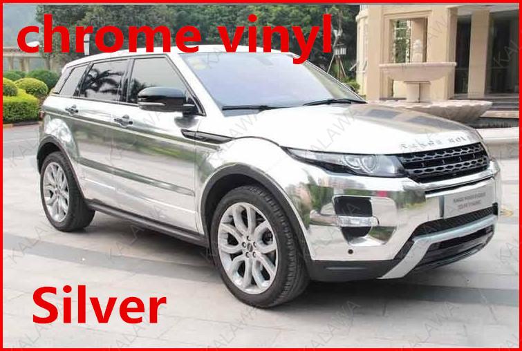 1 pc 1.52*0.5M Silver chrome vinyl car wrap electroplate film sticker bubble free FREESHIPPING TTT - KALAWA store