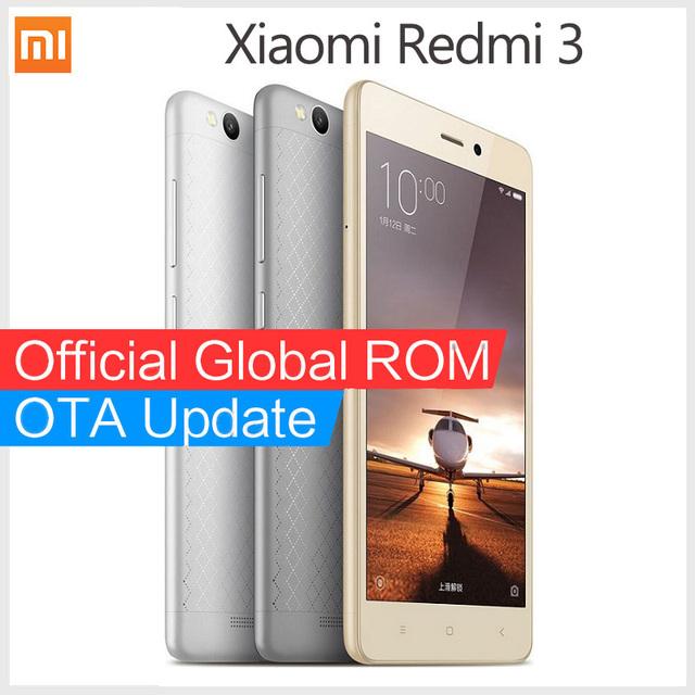 """Оригинал Xiaomi Redmi 3 смартфон Snapdragon 616 Окта Ядро Redmi3 FDD LTE 4 Г 5.0 """"1080 P MIUI 8 мобильных телефонов"""