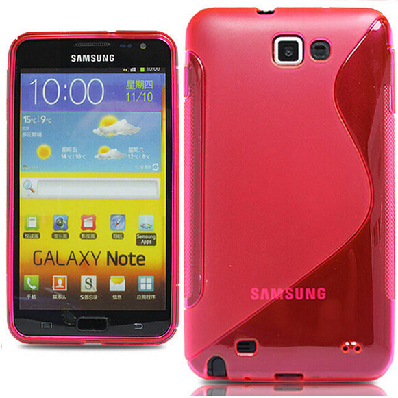 Soft Silicone TPU Gel S line Skin Back Cover Case Samsung Galaxy Note i9220 N7000 - Noble Boutique Shop store