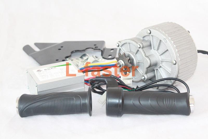 24V36V 450W Electric Brush Motor + Motor Controller + Twist Throttle Ebike DIY Motor Set Electric Bicycle Change Kit(China (Mainland))