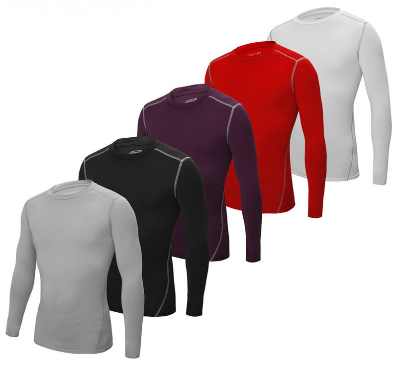 2015 Compression Tights Base Layer Men Running Long Sleeves Shirts Bodybuilding Fitness Jersey Clothing CX 5001 - ARSUXEO Official Store store