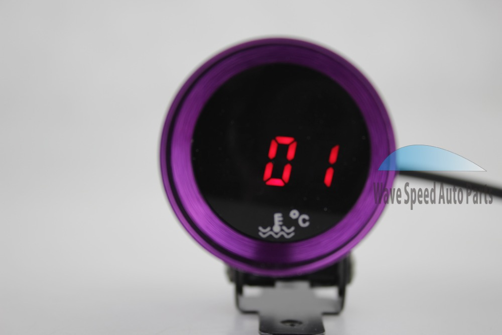 &retail universal 37mm mini auto digital water temp gauges+sensors motor car racing meters vehicle instruments gauges