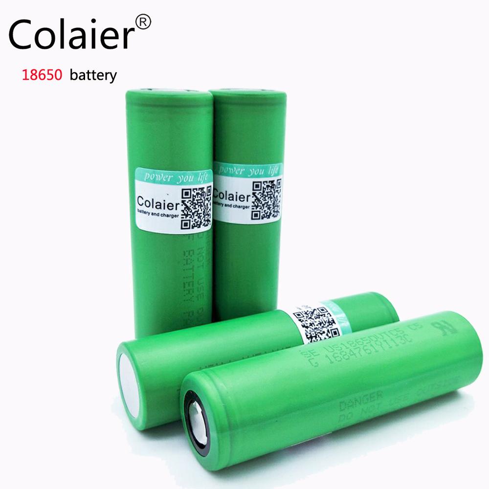 Colaier 4PCS 100% original ForSony US 18650 VTC5 2600mAh rechargeable 3.7V Li-ion battery maximum discharge current 30