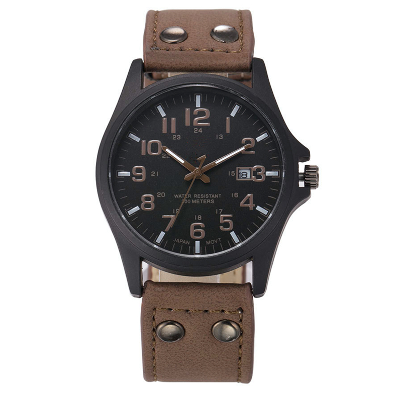 2016 Fashion Casual Brand Luxury Men Military Army Mens Watches Quartz  Leather Strap Watch Clock Fashion Hours FD0189<br><br>Aliexpress