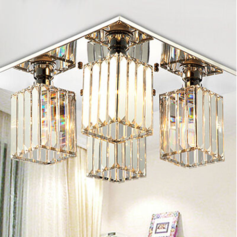 2016 new crystal lighting chandeliers modern crystal for Modern crystal chandelier for dining room