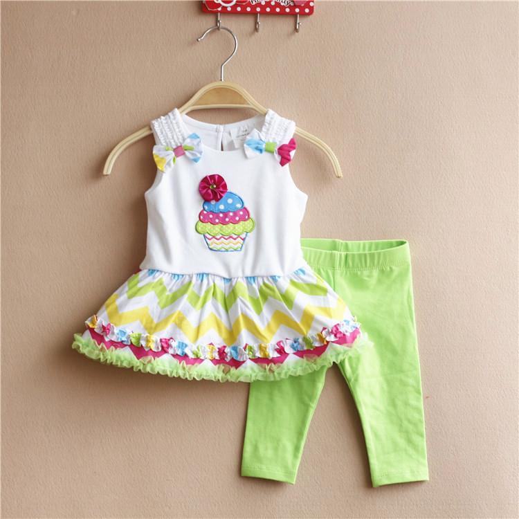 2016 fashion toddler baby girls summer clothing sets Cartoon 2pcs girls summer clothes set kids sport suit set tracksuit set(China (Mainland))