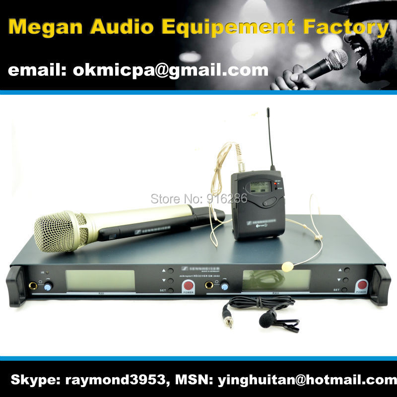 Free Shipping , EM3032 UHF wireless microphone system mix combine with ew500G2 bodypack and SKM5200 handheld mic<br><br>Aliexpress