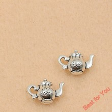 Buy 10pcs Wholesale Tibetan Silver Tone Teapot Charms Fashion Pendants Jewelry Making Diy Jewelry Findings 17x12mm for $1.10 in AliExpress store
