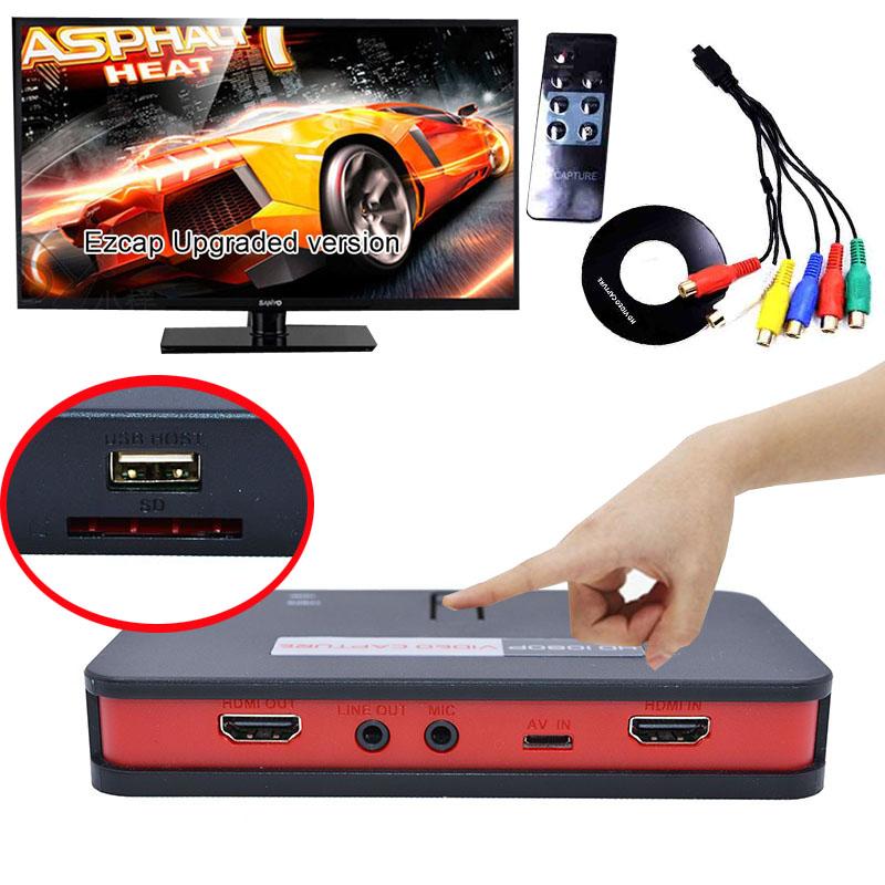 Фотография Ezcap282 Upgraged Ezcap 284 HD Video Game Capture 1080P AV HDMI YPbpr CVBS Recorder Box for PS4 PS3 XBOX TV STB Medical Video