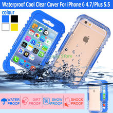 Waterproof Cool Clear Cover For iPhone 6 4.7/Plus 5.5 Luxury Soft Mobile Phone Case Transparent Leisure Back For Apple iphone6