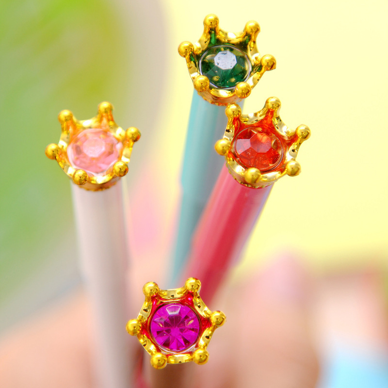 kawaii 2015 high quality pens hot Crown-diamond cute gel pen student office supplies stationery bag ladies, stylo pen mail F018<br><br>Aliexpress