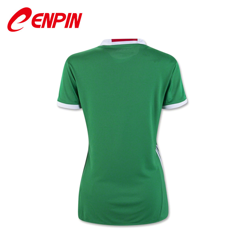 CENPIN Green 2016 MEXICO SOCCER JERSEY Women Camiseta de futbol MEXICO 2016 jersey local verde color girl football uniform Shirt(China (Mainland))