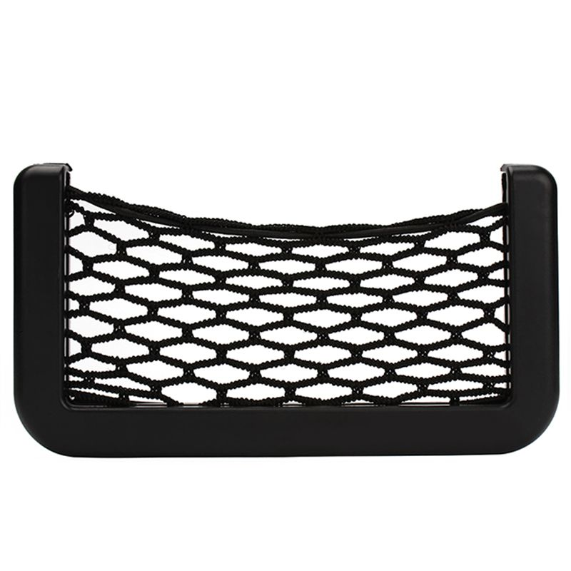 Hot sale Car Net Organizer Pockets Net car storage Automotive Bag Box With Adhesive Visor For