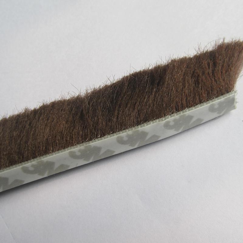 2m x 9mm x 23mm self adhesive sliding sash window pile draught excluder backing seals brush weather stripping(China (Mainland))
