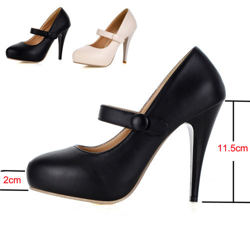 Plain Black High Heels