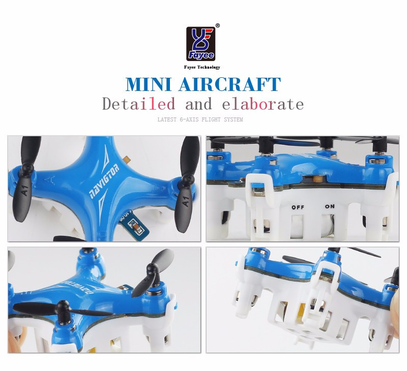 2016 New Smallest Mini Quadcopter FY804 4CH 2.4G 6Axis 360 Degree Roll Drone LED Plane Model Drone RC Toys