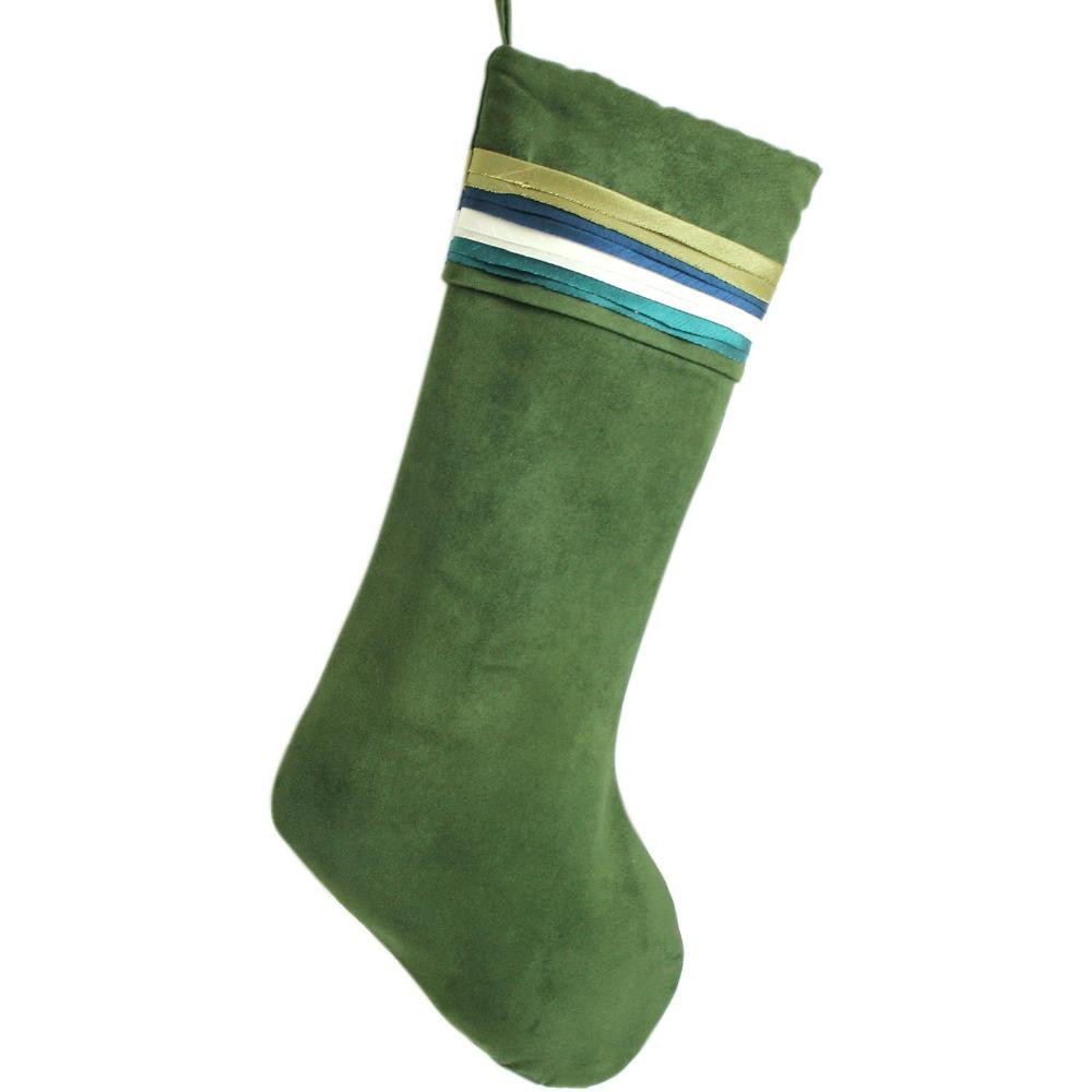 Free Shipping Colorful Rainbow Cuff Christmas Stockings Patchwork Socks P1960(China (Mainland))