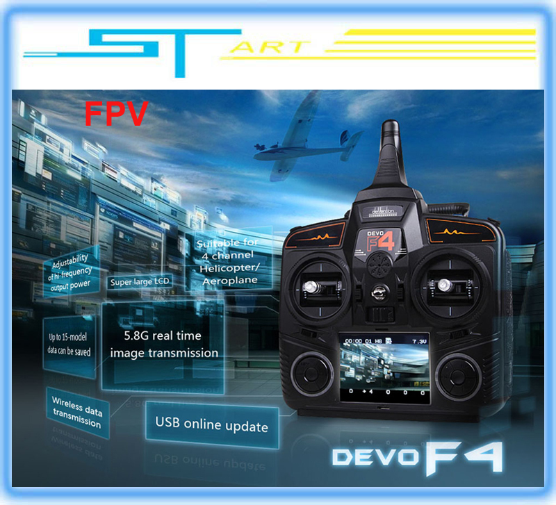5pcs/lot Walkera DEVO F4 2.4G transmitter FPV for QR Ladybird V2 RTF Combo Version with Camera drone rc helicopter Free shipping<br><br>Aliexpress