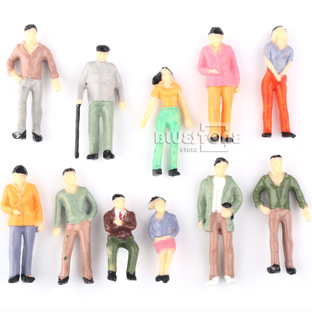 1:42 O Scale Hand Painted Layout Model Train People Figures(China (Mainland))