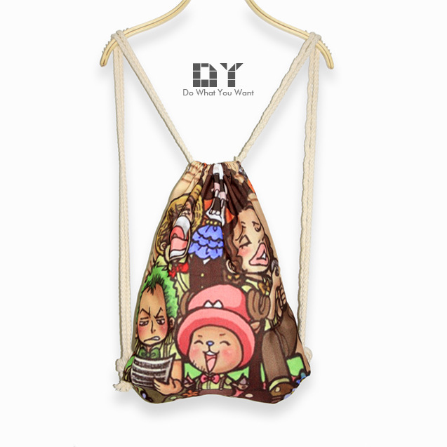 DY Harajuku style drawstring backpack shoulders Piece family leisure Ms. beam port package printing personalized backpack(China (Mainland))