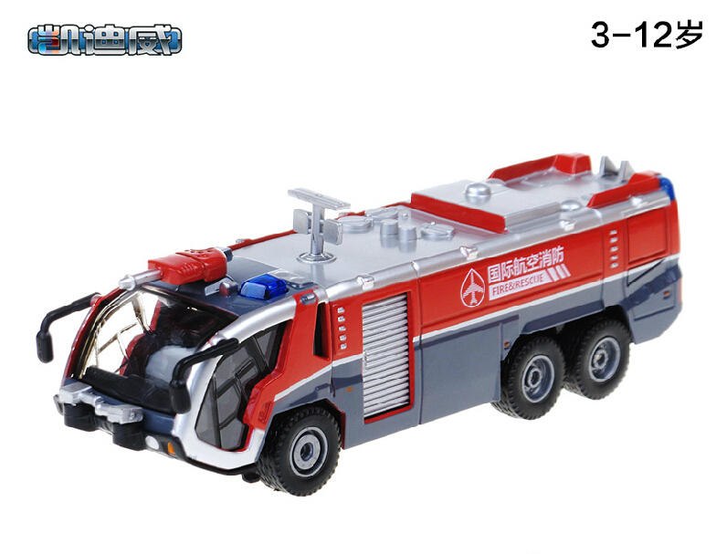 NEW 1:50 alloy fire truck with water cannons original simulation model car model(China (Mainland))