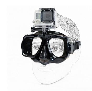 underwater diving mask for gopro hero camera accessories, tempered glass lens adult diving
