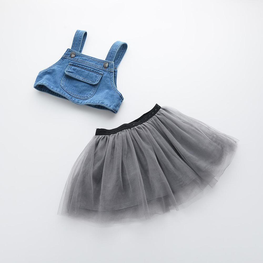 2016 New Kids Girls Suspender Denim Tutu Party Dress Spring Summer Sweet Kid Girl Ruffles Western Vintage Dress Wholesale<br><br>Aliexpress