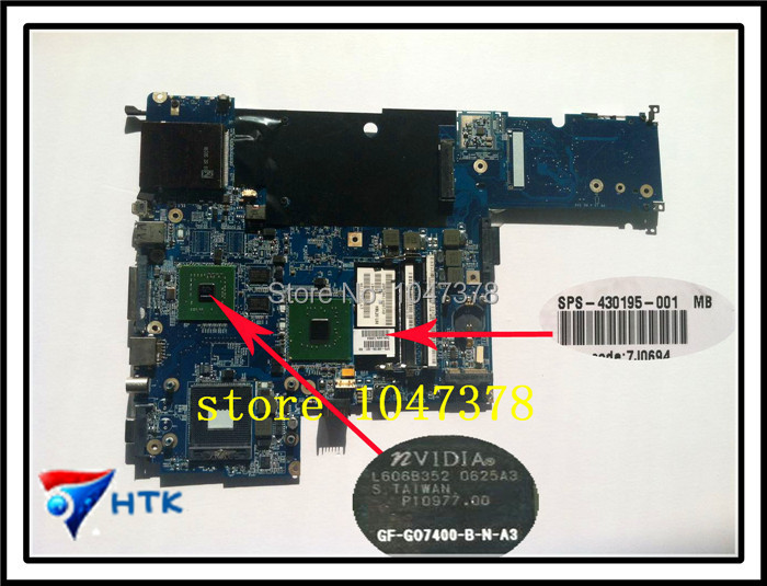 Wholesale LAPTOP MOTHERBOARD FOR HP DV5000 DDR2 WITH GRAPHICS 430195-001 100% Work Perfect(China (Mainland))