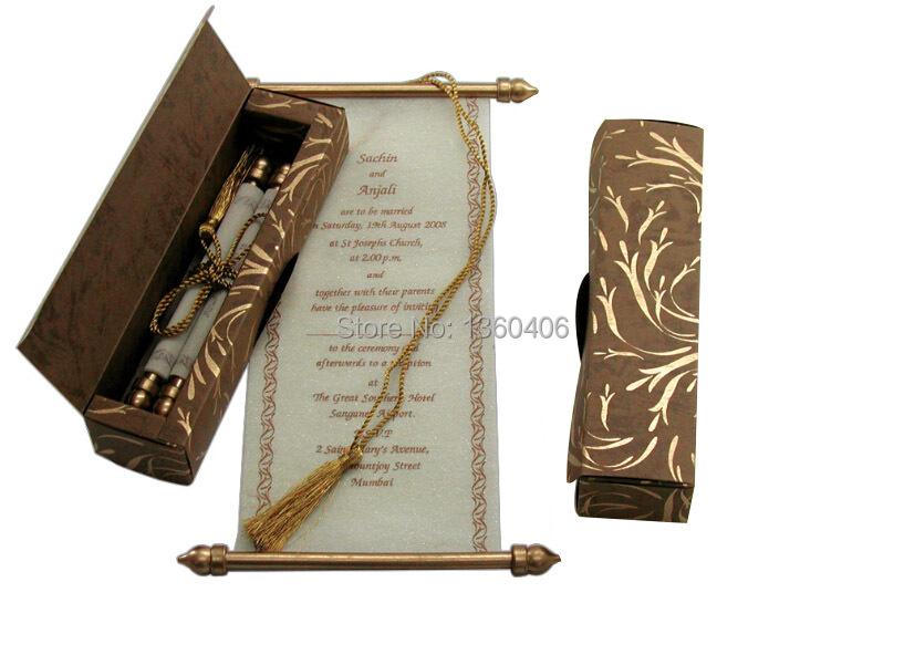 Scroll Wedding Invitations Card Wholesale Party Wedding