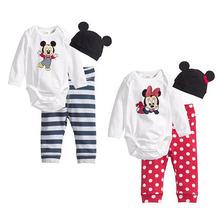 Fashion Carters Baby Boy Clothes Girl Clothing Set Romper+Hat+Pants Infant Newborn Baby Suit Jumpsuit
