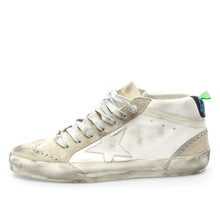 Brand New 2015 Golden Goose Mens Sneakers Mid Star Genuine Leather Women High Top Sneaker GGDB Casual Shoes Uomo Scarpe Donna