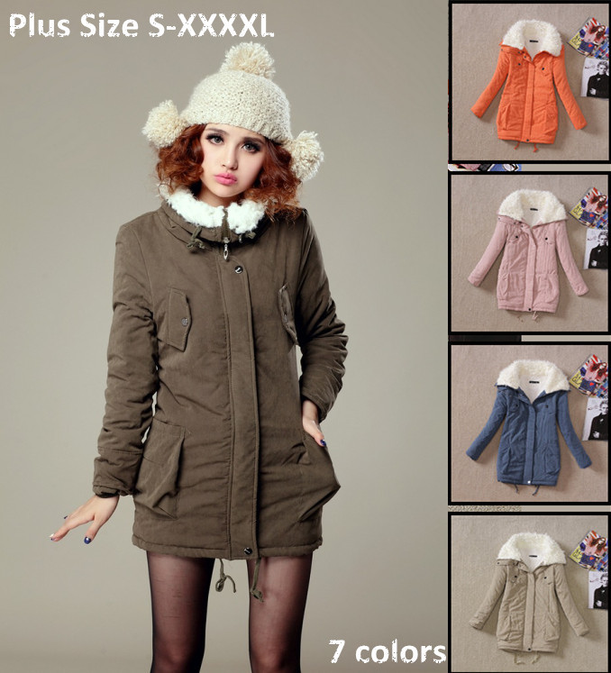 2014 Winter New Women Parka Female Plus Size Thickening Warm Jacket Poncho Jaqueta Casacos Feminina Outerwear long Coats