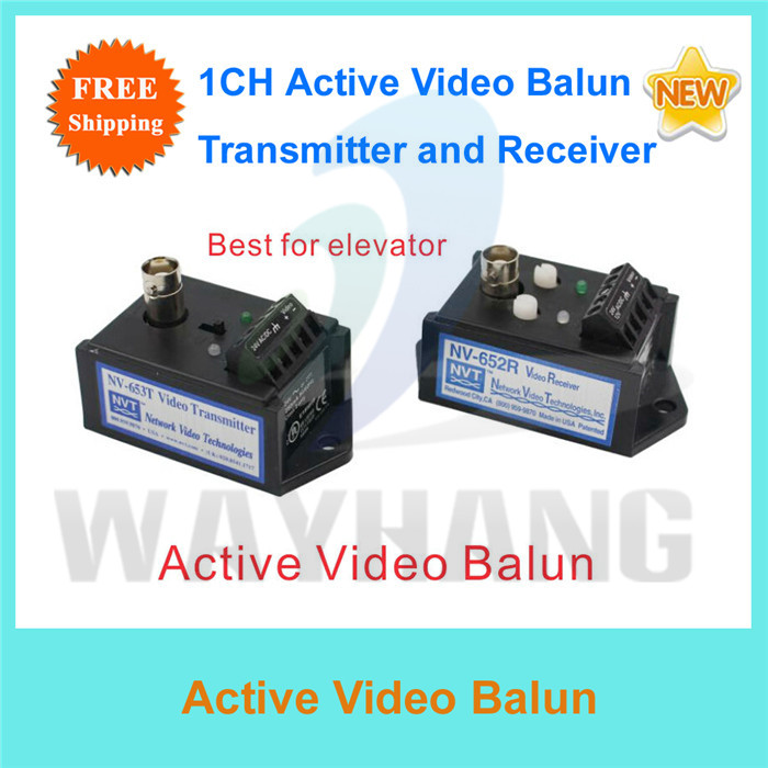 Free Shipping 1 Channel Active UTP Video Transceiver NV-652R/653T(China (Mainland))