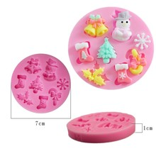 Cristmas Cake Chocolate Decorating Candy Pastry Baby Silicone Mold Baking Tools Fondant accessories
