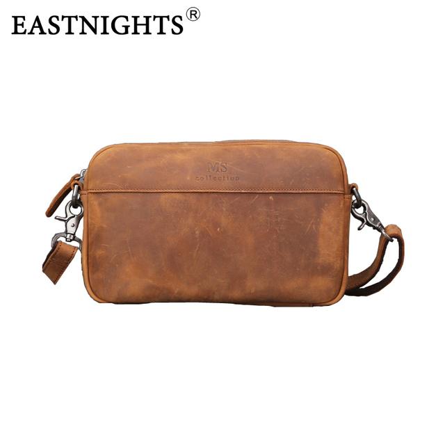 Eastnights натуральная кожа мужчины сумку ума-лошадь кожа мужских сумок кроссбоди ...